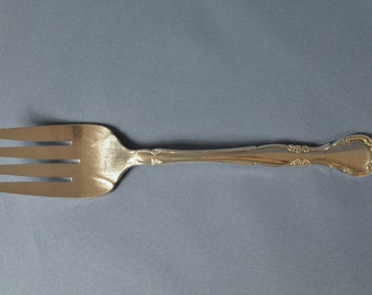 Vintage Oneida Community Silver Plate Affection Meat Fork DSC_00254B