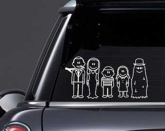 The Addams Stick Family Inspired Vinyl Decal