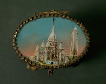 Antique Paris jewellery box