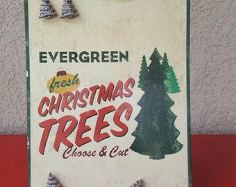 Vintage Metal Christmas Tree Decor