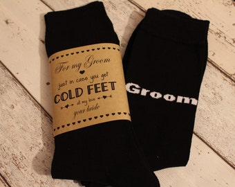 Groom Socks-Just in case you get cold feet