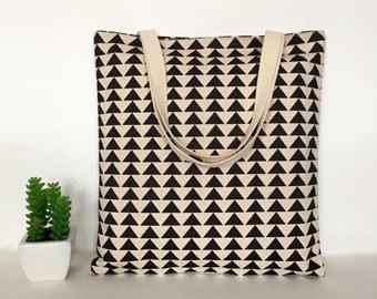 Triangle Canvas Tote Bag, Canvas Tote Bag, Minimalist Canvas Tote Bag, Tote bag for Teacher, School Tote Bag, Travel tote bag, Canvas bag