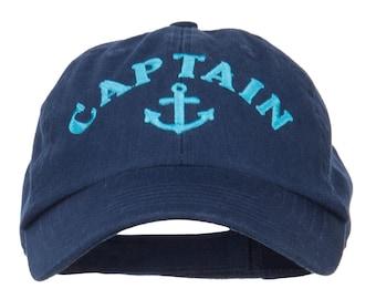 Captain Anchor Logo Embroidered Pet Spun Cap