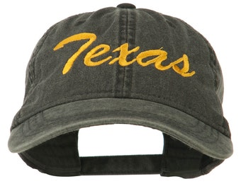 Mid State Texas Embroidered Washed Cap