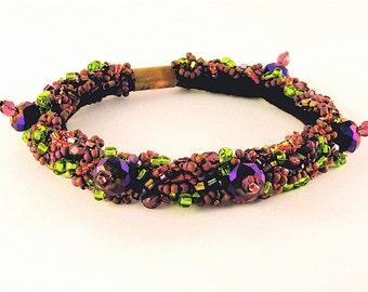 Empress- Beaded soft bracelet
