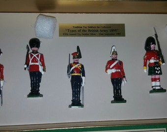 """Tradition """"Types of the British Army 1895"""" Limited Edition Set 44/100. 6 pieces."""