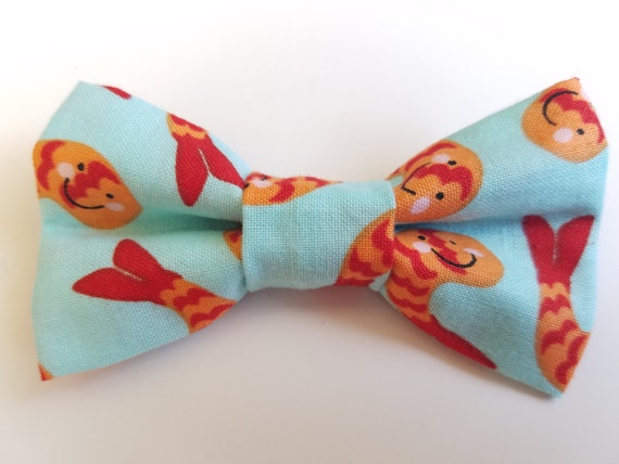 Happy Shrimp Bow Tie For Cat or Small Dog Collars, Matching Velcro Collar, 100% Sales Goes to Feeding Feral Cats