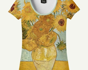 Sunflowers T-shirt, Sunflowers Shirt, Van Gogh T-shirt, Van Gogh Shirt, Sunflowers By Van Gogh, Women's T-shirt, Women's Shirt