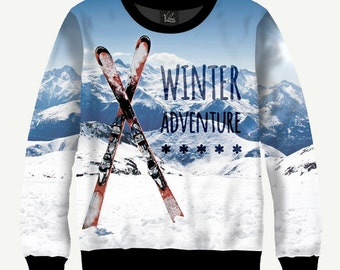 Winter Adventure - Men's Women's Sweatshirt | Sweater - XS, S, M, L, XL, 2XL, 3XL, 4XL, 5XL