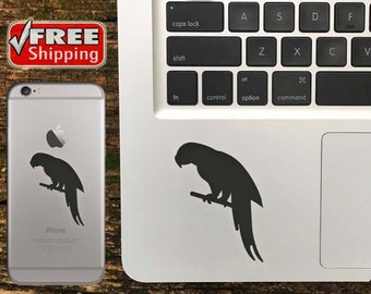 Parrot Decal, Parrot iPhone Sticker, Parrot Macbook Decal, Parrot Sticker - FREE Shipping in USA - Choose Color Of Decal