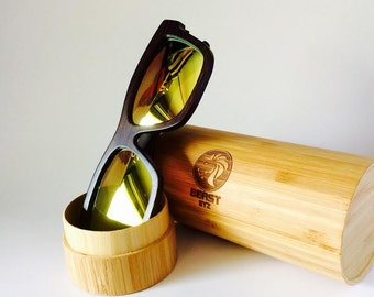 Bamboo Sunglasses Handcrafted & Polarized (Apple Green)