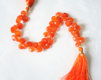 Carnelian Faceted Hearts