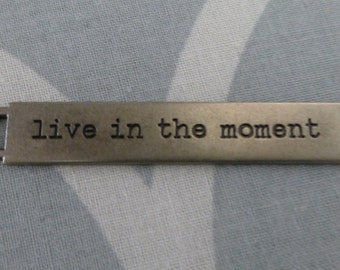 Tim Holtz Idea-ology word band - Live in the Moment