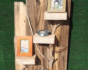 Reclaimed Wood Shelf,  Rustic Wall Decor, Summer Special