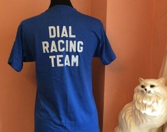 80s T-Shirt, Gordon 31, Dial Racing Team, Screen Stars, NASCAR, Blue (B183)