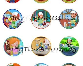 Handy Manny Edible Cupcake/Cookie Toppers for Birthday Party or other Special Occasion!