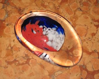 Beautiful Czech Art Glass Paperweight Hand Blown Ground Bottom! #BS