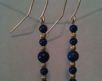 Lapis goldfilled dangle earrings