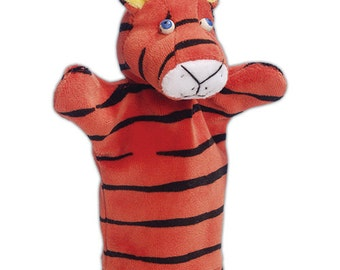 Handmade Animal Puppet, Cute Tiger Hand Puppet, Pretend to play Puppets