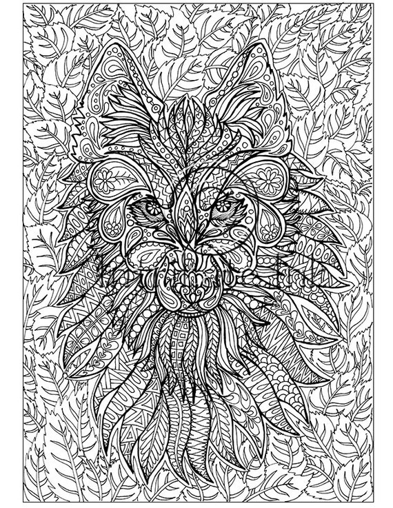 intricate wolf pup coloring pages - photo#9