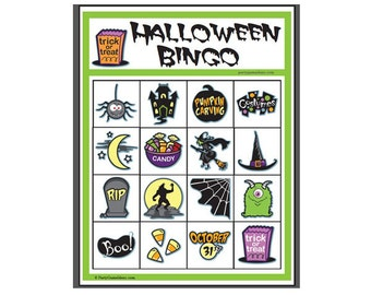 Halloween activity etsy for 4x4 bingo template