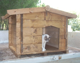 wooden kennel for dog and cat