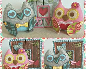 Owl, Spring Owl, Cute Owl, Handmade Owl, Stuffed Owl, Stuffed Animal, Home and Holiday Decor, Handmade Animal, Easter Decoration