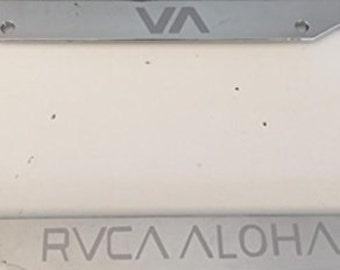 RVCA Aloha Version  -Limited Edition Automotive Chrome License Plate Frame -