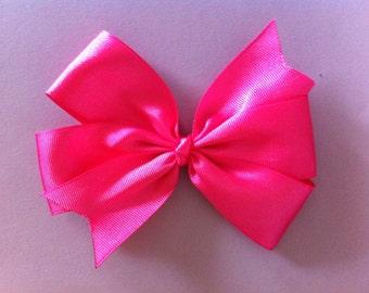 Bright Pink Pinwheel Hair Bow
