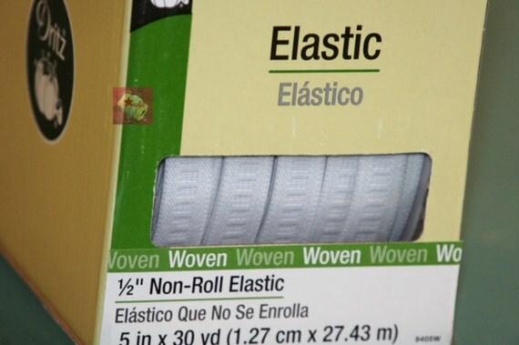 Dritz 1 2 Non Roll Elastic 30 Yards White Woven New