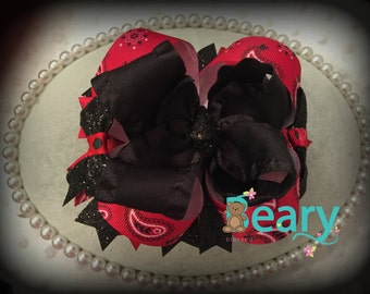 Red and Black Western Stacked Bow