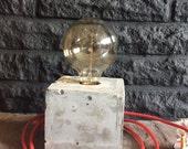Concrete Lamp, Lamp, Industrial light, Industrial Lamp, Steampunk lamp, desk lamp with Edison bulb