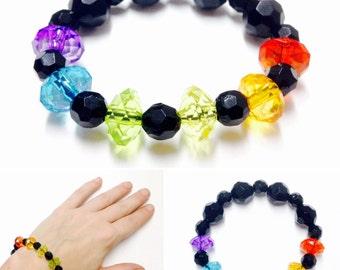 Pride Bracelet - Beaded Pride Bracelet - Gay Pride Bracelet - Rainbow Bracelet - Pride Pearl Bracelet - Rainbow Pride Bracelet - Rainbow