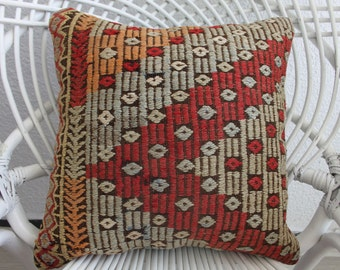 40cm x 40cm bohemian floor pillow kilim pillow shabby chic pillow home decor cushion 16x16 floral and coloral pillow 40cm x 40cm 696