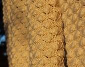 Chunky knit Crochet Ivory Cardigan Jacket  Chunky hand knit Cream Coat jacket   crochet  chunky knit blanket  cardigan