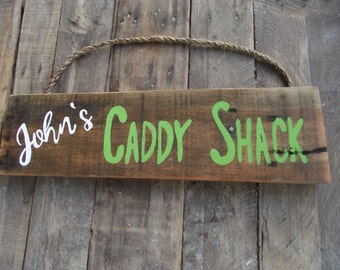 Golf personalized sign | Golf custom hand-painted sign | Fathers Day gift | Caddy Shack golf sign | Golf decor | Golfing sign