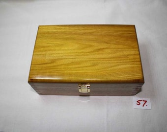Deep Yellow Wood Jewellery Box