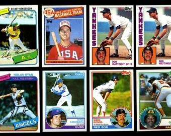 medium flat rate box of baseball cards
