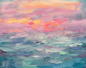 Sunset Sea ~ Original Painting