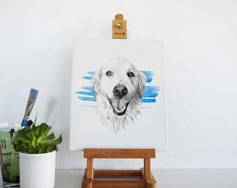 SEMI-COLOR Custom animal/pet portrait