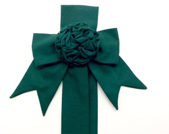 Hunter Green Rosette Home Decor Wall Decor Home Decorations