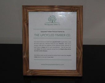 HALF PRICE!!!  Reclaimed Timber Picture Frame 12x10""