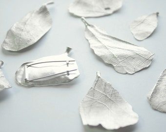 metamorphosis | contemporary jewellery | art | silver human leaves | nature | brooch | by MA
