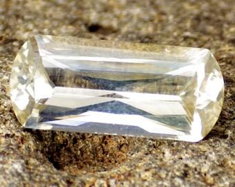 Aragonite-Czech Republic 2.49 Ct Flawless-Pastel Gold Color-Perfect German Cut-Rare Gemstone-Read!