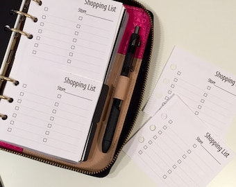 Mini Shopping List Printed Personal Size Planner Inserts