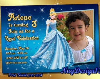 Cinderella Birthday Invitation, Cinderella Invitation, Cinderella Birthday Party, Cinderella, Disney Princess.