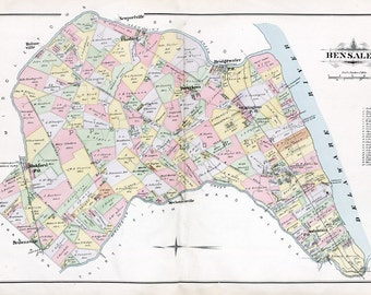 1891 Map of Bensalem Township Bucks County Pennsylvania