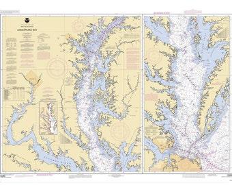 2004 Nautical Chart of the Chesapeake Bay