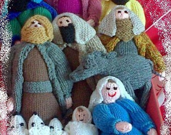 New Hand Knitted Nativity Set For Christmas