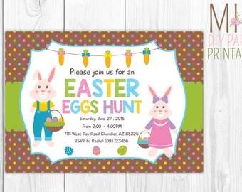Easter Invitation, Easter Egg Hunt Invitation, Easter Party Invitation, Easter Birthday Party Invitation, Easter Invitation,Easter Invite